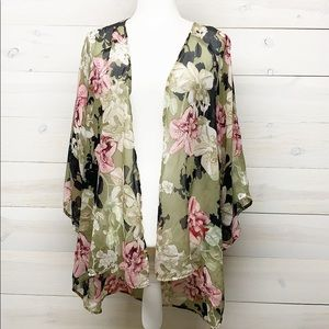 Chico's Floral Duster Caridgan